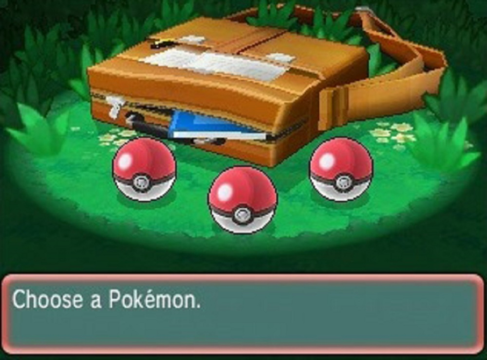 pokemon choose starter