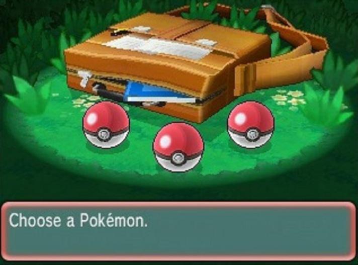 pokemon choose starter